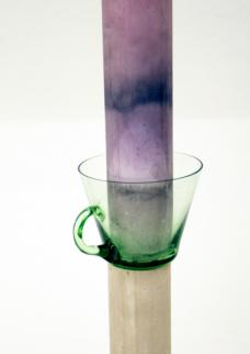 @ Angelika Loderer, Untitled, Gips, Glas, Fruchtsaft