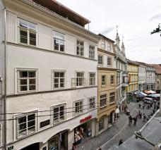 Straßenfassade, Sporgasse, Strehlyhaus, Andexer