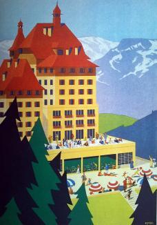 Suedbahnhotel_Semmering__1933__Plakat_von_Hermann_Kosel_fuer_das_neue_Schwimmbad_des_Hotels