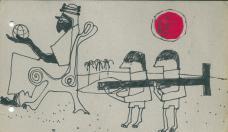 Raimund Abraham, Zeichnung anlässlich des Wettbewerbs für die Universität Riad