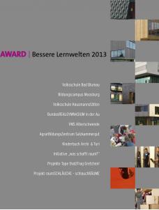 AWARD | Bessere Lernwelten 2013