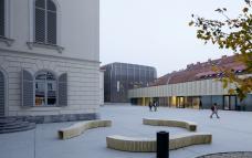 Palais Meran, Campus, MUMUTH und Theater im Palais. Ansicht vom Westen