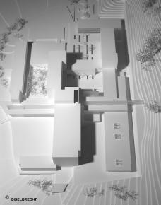 Außenanlagen LKH Leoben modell giselbrecht
