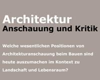 ARCHITEKTUR_Anschauung und Kritik