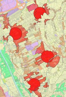 Siedlungsschwerpunkte in der Region