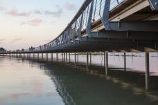 Brücke Mont Saint-Michel fertig