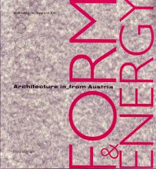 katalog ausstellung FORM & ENERGY Architecture in from Austria