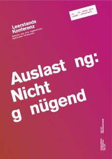 Leerstandskonferenz 4 _ Auslastung: Nicht genügend!