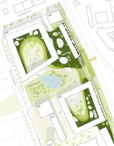 Smart City Graz – Waagner-Biro, Baufeld Mitte/Nord, Lageplan