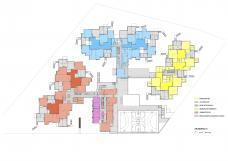 Bildungscampus Wien – Sonnwendviertel, Funktionsverteilung OG
