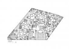 Bildungscampus Wien – Sonnwendviertel, Grundriss und Außenraum EG