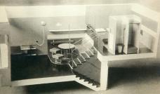 El Lissitzky _ Einrichtungsprojekt für die F-Type einer Wohnzelle, 1927 (Kollektivhaus des Architekten M. Ginzburg