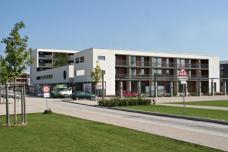 Projekt: Wohnanlage FrauenWohnen eG München-Riem, Planung: Planungsgemeinschaft Zwischenräume  München ::::: Nordwestansicht, Foto: FrauenWohnen eG