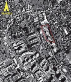 Lageplan Eisteichsiedlung 1958-64 Wohnzufriedenheit und architektonische Innivation in der Steiermark seit den 60er Jahren Wohnbund Steiermark, Graz März 2000, S 196