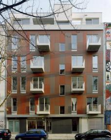 Projekt K20: Kreutzigerstraße 20, Berlin-Friedrichshain, Architekten roedig.schop Berlin ::::: Ansicht Straßenseite. Foto roedig + schop