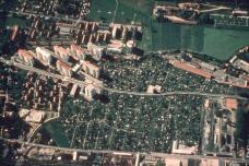 Luftbild Kasernstrasse, Hochhausbebauung 1952-54, Foto: Archiv Institut für Städtebau TU Graz