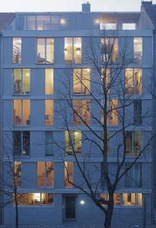 """Projekt A52 """"ten in one"""": Anklamerstraße 52, Berlin-Mitte, Architekten roedig.schop Berlin ::::: Ansicht Straßenseite, Foto: roedig + schop"""