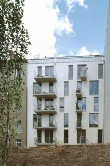 A52, Anklamerstraße 52, Berlin-Mitte, Architekten roedig.schop Berlin, Ansicht Gartenseite, Foto: roedig + schop