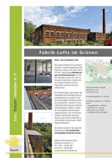 EXPOSEE FABRIK-LOFTS, bauforum dresden e. V., Grafik: bauforum dresden