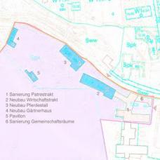Projekt:  Wohnheim B.R.O.T. Wien-Kalksburg, Architekt Franz Kuzmich ::::: Lageplan Architekt Franz Kuzmich