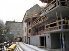 Wohnheim B.R.O.T. Wien-Kalksburg. Neubau anstelle ehem. Wirtschaftstrakt. Architekt Franz Kuzmich. Foto: Büro Kuzmich