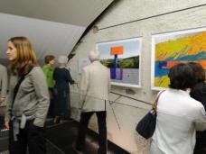 """Bilder von der Ausstellung herms FRITZ """"Denn Stückwerk ist unser Erkennen - Fragmente eines Teppichs in Bildern"""", in der Turmkammer der Basilika Mariazell (bis 2.11.). Foto: Zita Oberwalder"""
