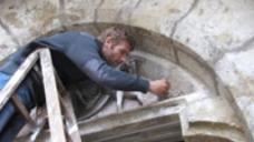 Angewandte Bauforschung, Untersuchung des Brauttores, Foto: Simone Hain