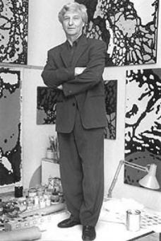 Eilfried Huth in seinem Maleratelier