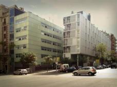 Schule und Wohnungen Londres-Villaroel in Barcelona von Coll-Leclerc. (Foto: Flickr/zackds - www.flickr.com/photos/zackds)