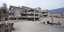 Der Vorplatz. Hier, von der Georgigasse aus zeigt sich die umbebaute Pädagogische Akademie unverändert. (Foto: Martin Grabner)