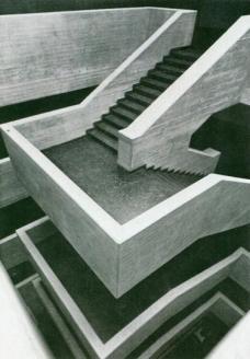 Die Treppe nach der Erbauung der PÄDAK (1964-69). (Foto Archiv Eilfried Huth)
