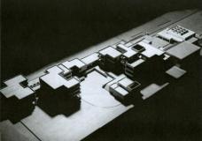 Das Originalmodell von Domenig und Huth. Dort wo heute der Zubau steht planten sie eine Kapelle/Bibliothek. (Foto: Archiv Eilfried Huth)