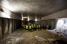 Im Straßenbahntunnel unter dem Europaplatz.