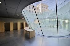 Blick aus dem Besucherzentrum auf das Museumsgebäude Neutorgasse. (Foto: N. Lackner / UMJ)