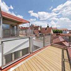 Die Aussicht von den Dachterrassen lässt den besonderen Reiz des innerstädtischen Wohnens verstehen.