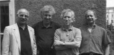 Das TEAM A GRAZ: Franz Cziharz (gest. 1998), Dietrich Ecker (gest. 1995), Herbert Missoni, Jörg Wallmüller (Foto: TEAM A GRAZ)