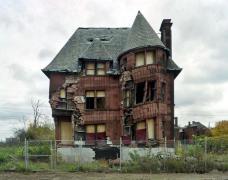 William Livingstone House, Brush Park. 1893 nach einem Entwurf von Albert Kahn errichtet, wurde es mittlerweile endgültig abgerissen.