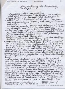 Manuskript Seite 1