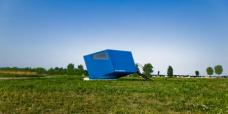 Hypercubus, mobile hotel room for 2 persons. Design: WG3, Graz