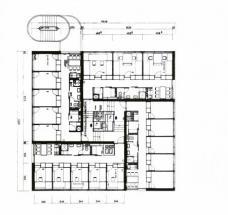 Studentenwohnheim am Hafnerriegel, Grundriss. Plandarstellung: Werkgruppe Graz