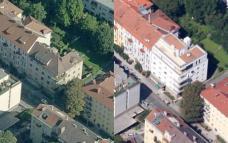 Gegenüberstellung Alt (li) und Neu (re), Luftbild. Fotoquelle: google maps / bing