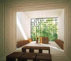 Schaubild Andachtsraum. Planung: Innocad Architektur ZT GmbH, DI Lesjak