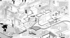 """Laura Marcheggiano, Sapienza University of Rome (Italy), Projekt Gaay Nagar [Cow District]: Re-housing settlement project for an inclusive design. Konzeption einer kostengünstigen, leistbaren Wohnhausanlage mit ca. 200 Wohneinheiten, die einen nachhaltigen Lebensraum in der Peripherie von Ahmedabad schafft. Die StadtbewohnerInnen haben ihre Verbindung mit der Natur verloren, und der Landbevölkerung ist ihre Lebensgrundlage und ihr Land abhandengekommen. Können diese beiden gegensätzlichen Arten des Wohnens nebeneinander existieren? Hauptziel des Projekts ist daher die Schaffung eines """"inklusiven Designs"""", von dem alle Beteiligten in gleichem Maß profitieren. © Laura Marcheggiano"""