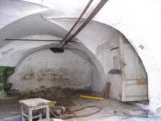 Tonnengewölbe mit Stichkappen, Ende des 15. Jhs. im Erdgeschoss