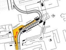 Mögliche Anbindung ECE-Projekt und Stadtbauamt