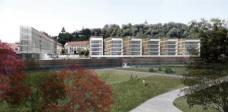 2. Rang: GS architects, Graz. Blick vom Stadtpark