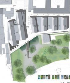 3. Rang: HOG Architektur, Graz. Lageplan