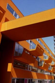 Wohnanlage Sargfabrik, Blick vom Innenhof,Planung: BKK-2 ZT GmbH. Foto: © Herta Hurnaus