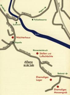 Situationsplan des ehemaligen KZ-Außenlagers (c) Institut für Kunst im öffentlichen Raum