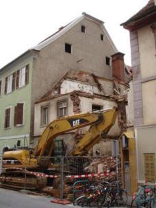 Altstadtschutzzone 1: Haus Griesgasse 30, Graz - Abbruch September 2010